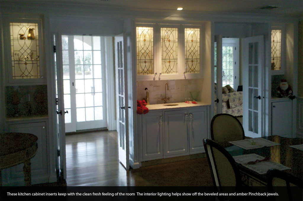 Custom Stained Gl Kitchen Cabinet Doors
